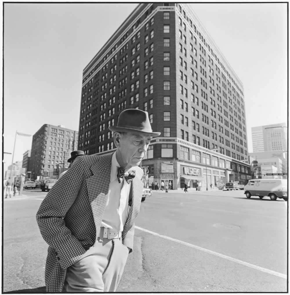 Tom Arndt, Man with a bow tie, 6th Hennepin, Minneapolis, Minnesota, 1975