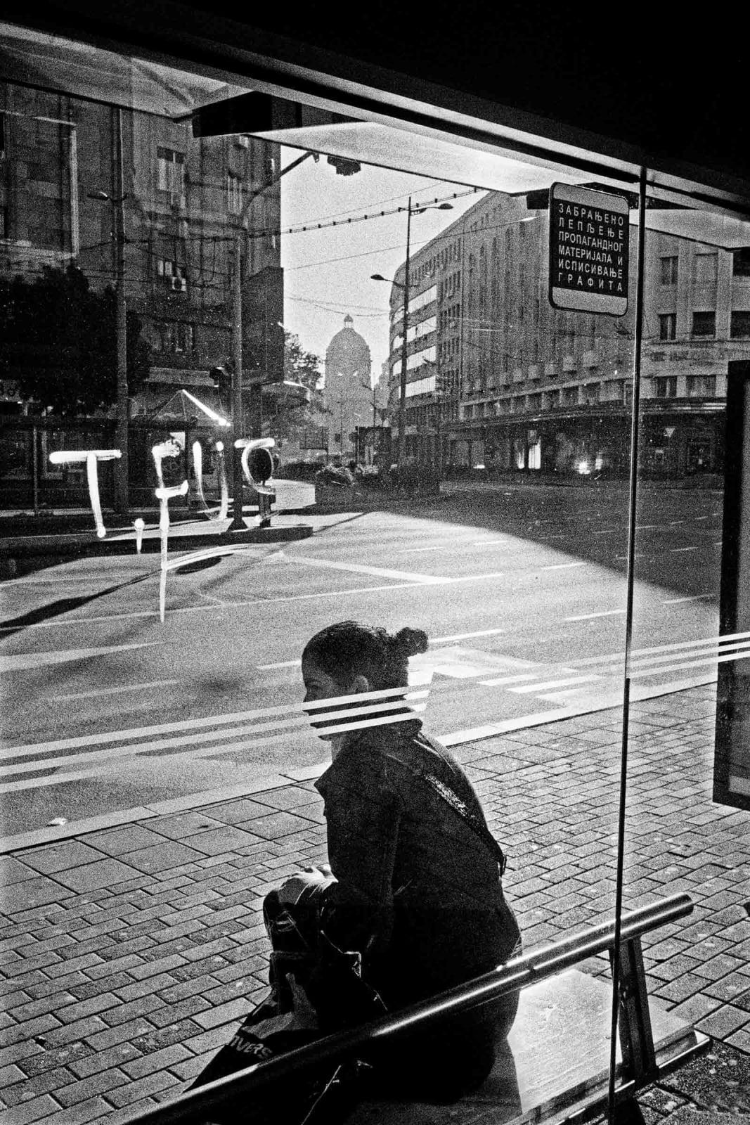 Jean-Christophe Béchet Belgrade, Serbie Tirage gélatino-argentique, réalisé par l'artiste 16,7 x 25,1 cm Dim. papier: 24 x 30 cm