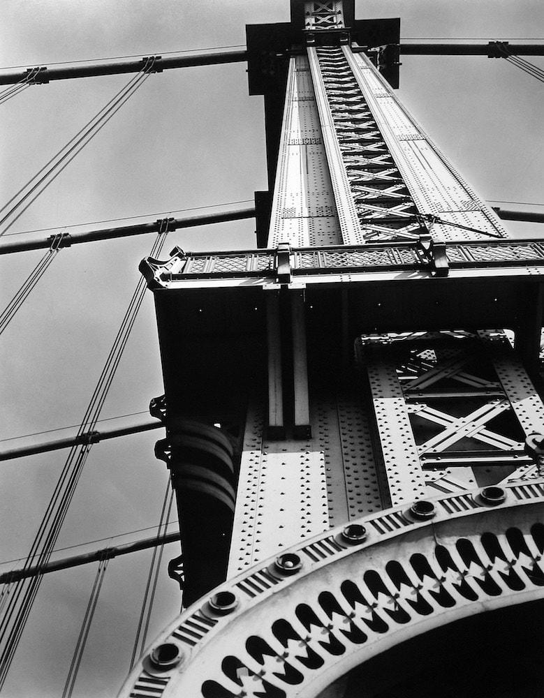 Berenice Abbott, Manhattan Bridge Looking Up, New York, 1936