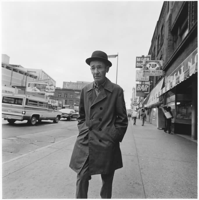 Tom Arndt, Man on Hennepin avenue, Minneapolis, Minnesota, 1974