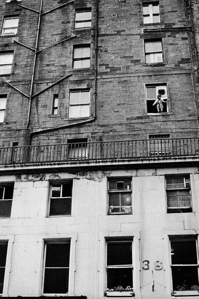 Jean-Christophe Béchet Glasgow, Écosse Tirage gélatino-argentique d'époque, réalisé par l'artiste 18 x 27 cm Dim. papier: 24 x 30 cm