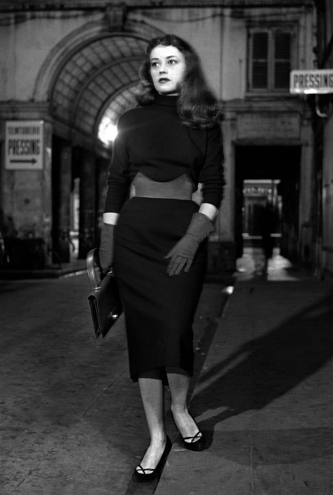 Sabine Weiss, Jeanne Moreau, Paris, 1953