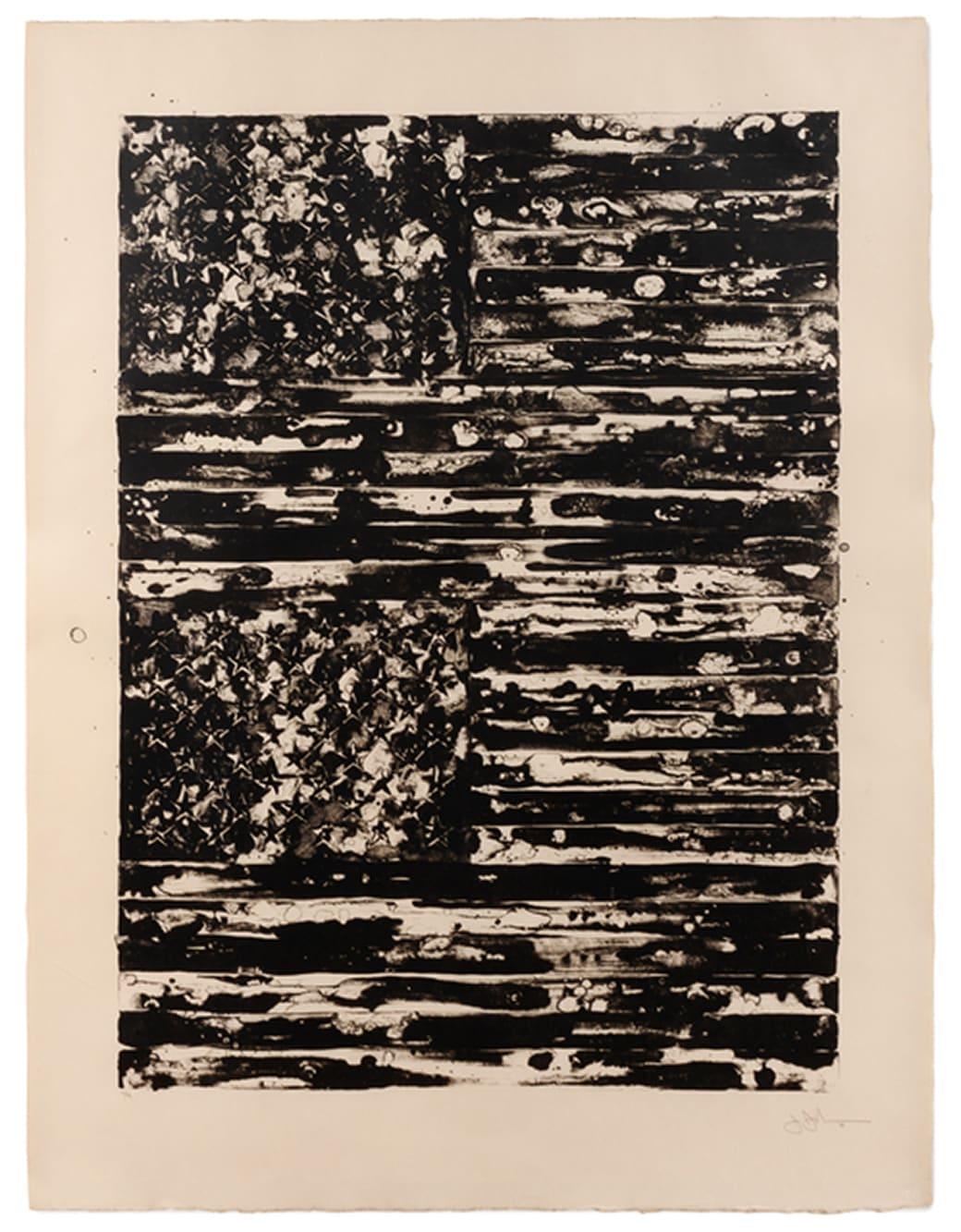 Jasper Johns, Two Flags, 1980