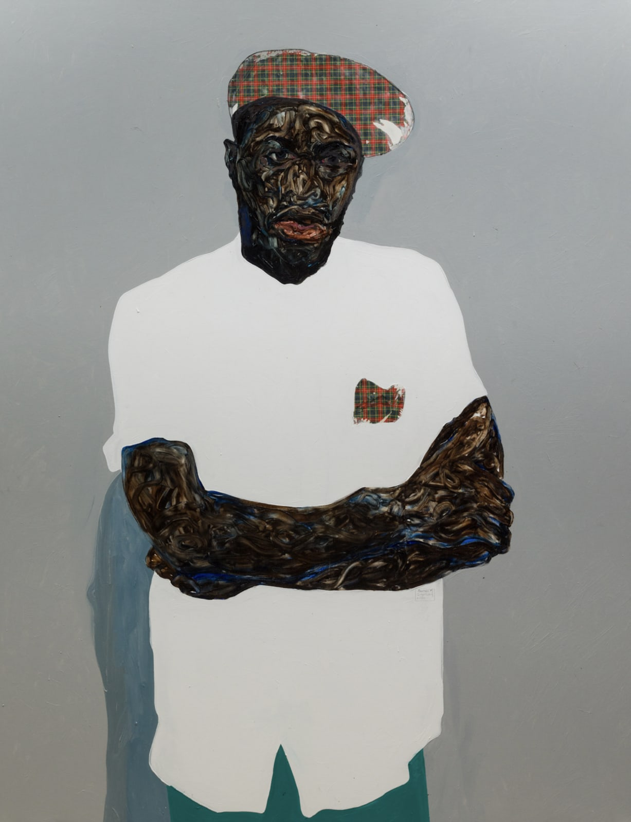 Amoako Boafo, Checkered beret, 2020