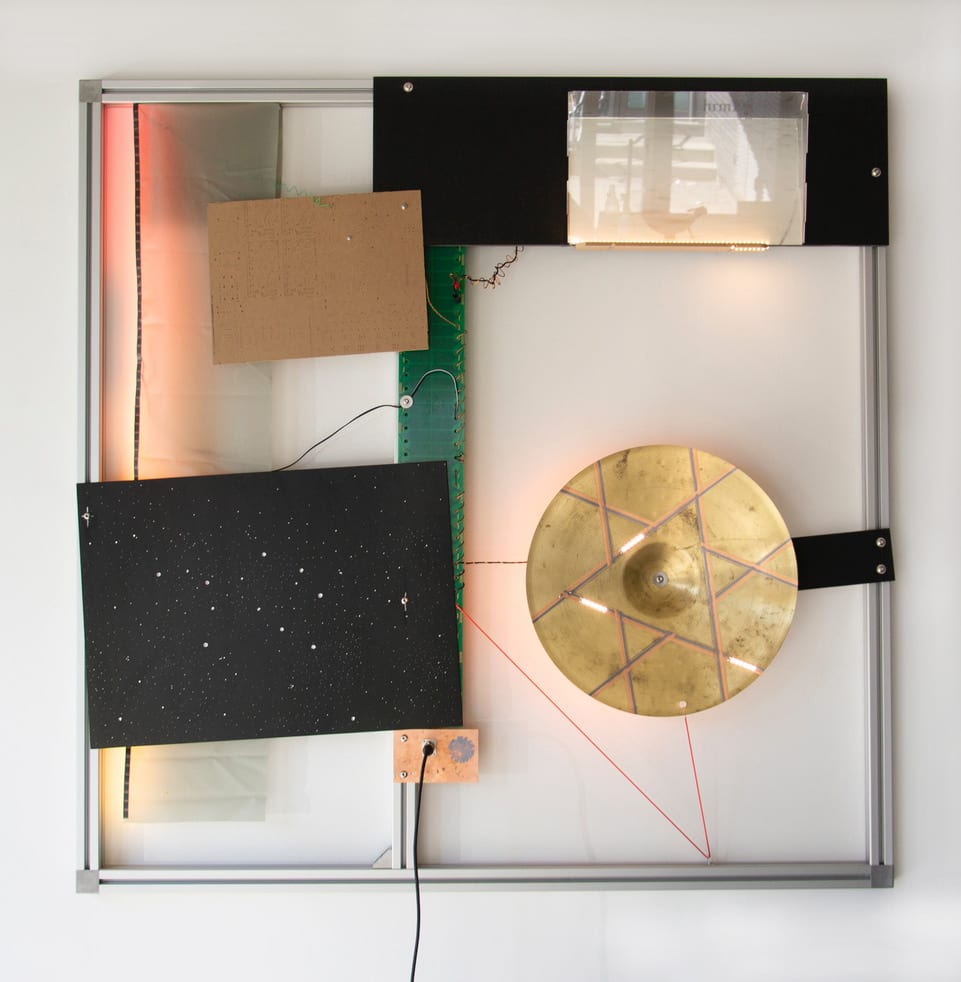 Haroon Mirza, The Virgin Will Keep Rising (LED Circuit Composition #32) 0000, 2020