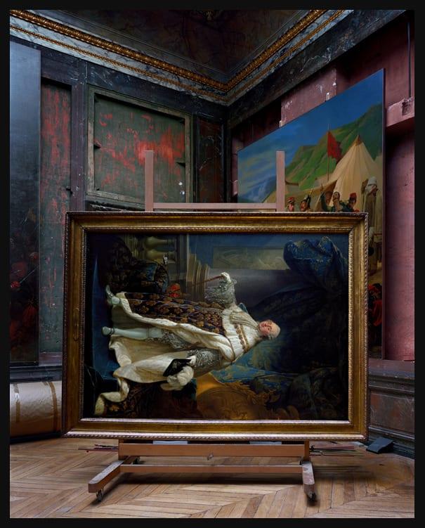 Robert Polidori, Salles d'Afrique, Portrait of Louis XVI by Callet #2, Chateau de Versailles, 2007