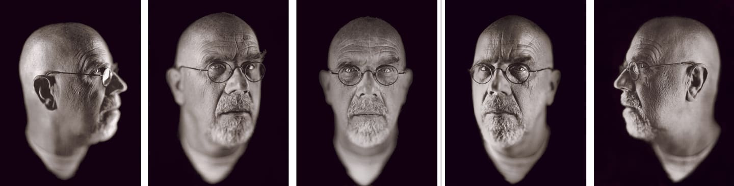 Chuck Close, Self-Portrait (5 Heads), 2002