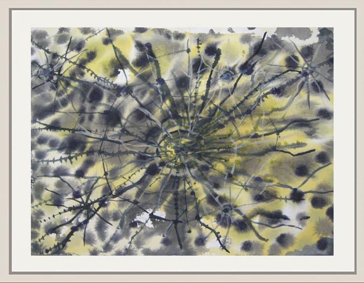 Landon Mackenzie, Yellow Web (Berlin), 2007