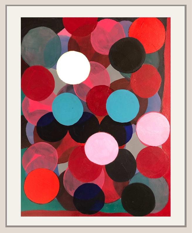 Landon Mackenzie, Two Blue (Aqua) Dots, 2019-2020
