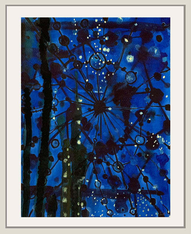 Landon Mackenzie, Night Blue Tree, 2010