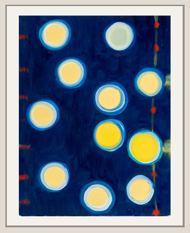 Landon Mackenzie, Noja Night (Yellow Circles), 2019