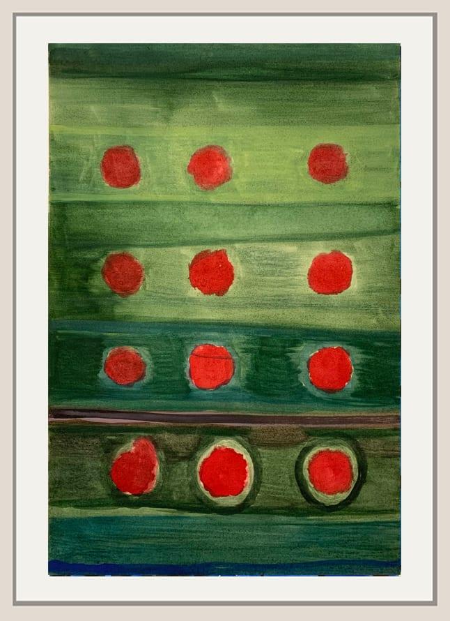 Landon Mackenzie, Red + Green (Road) Noja, 2019
