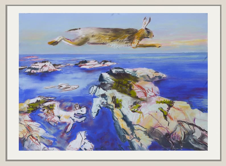 John Hartman, Running Rabbit Above the Western Islands, 2020