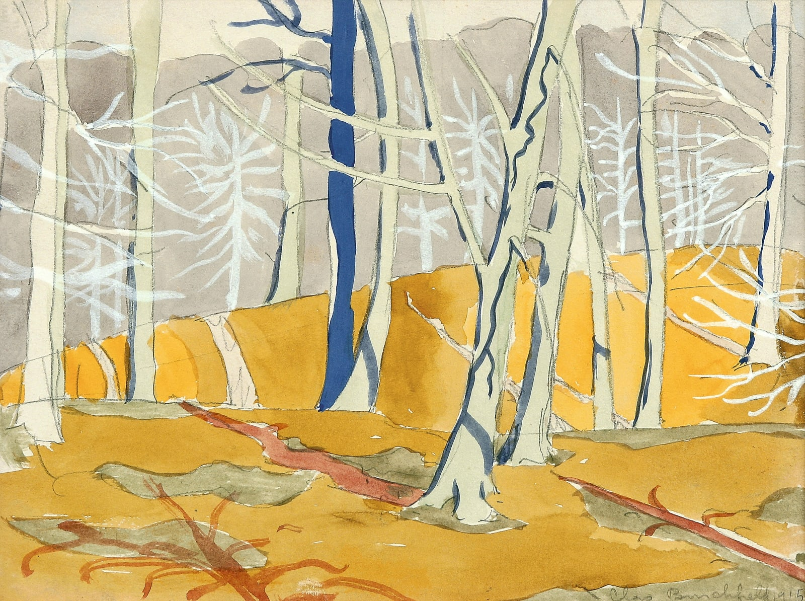 Charles Ephraim Burchfield, Winter Sun, 1915