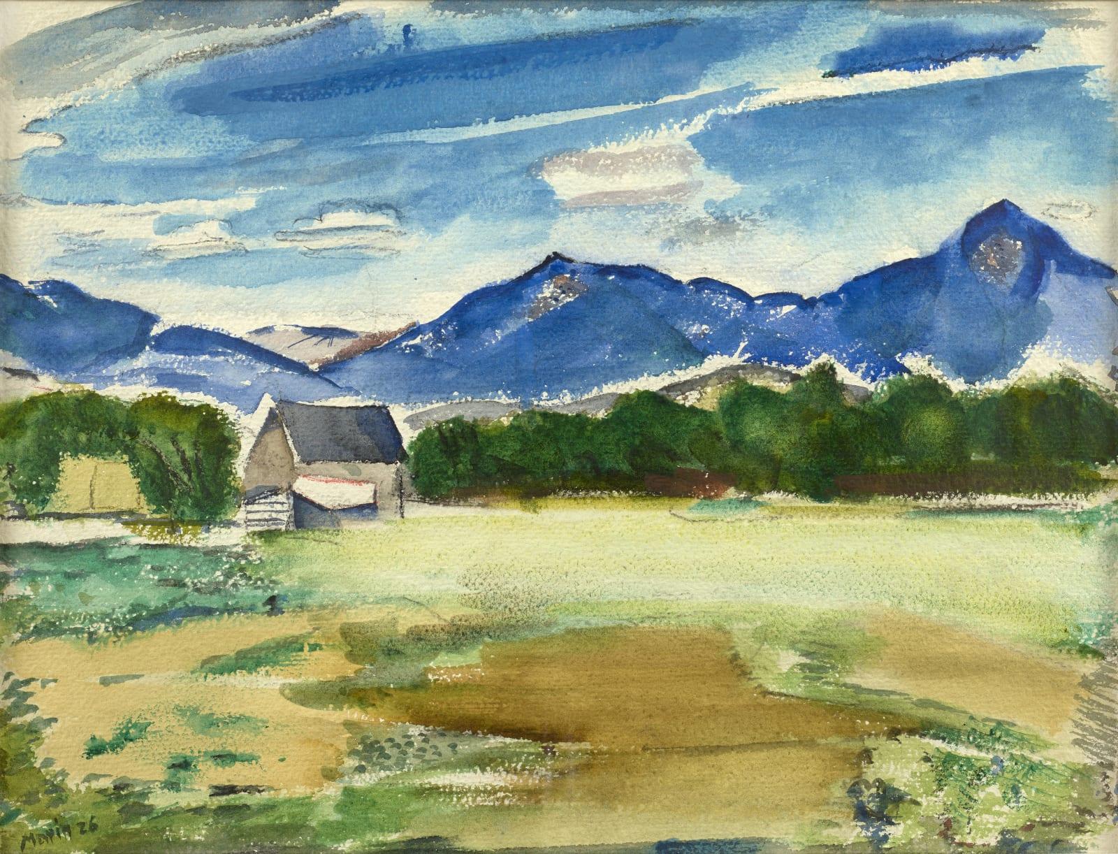 John Marin, Mt. Chocorua and a-Couple-a-Neighbors, 1926
