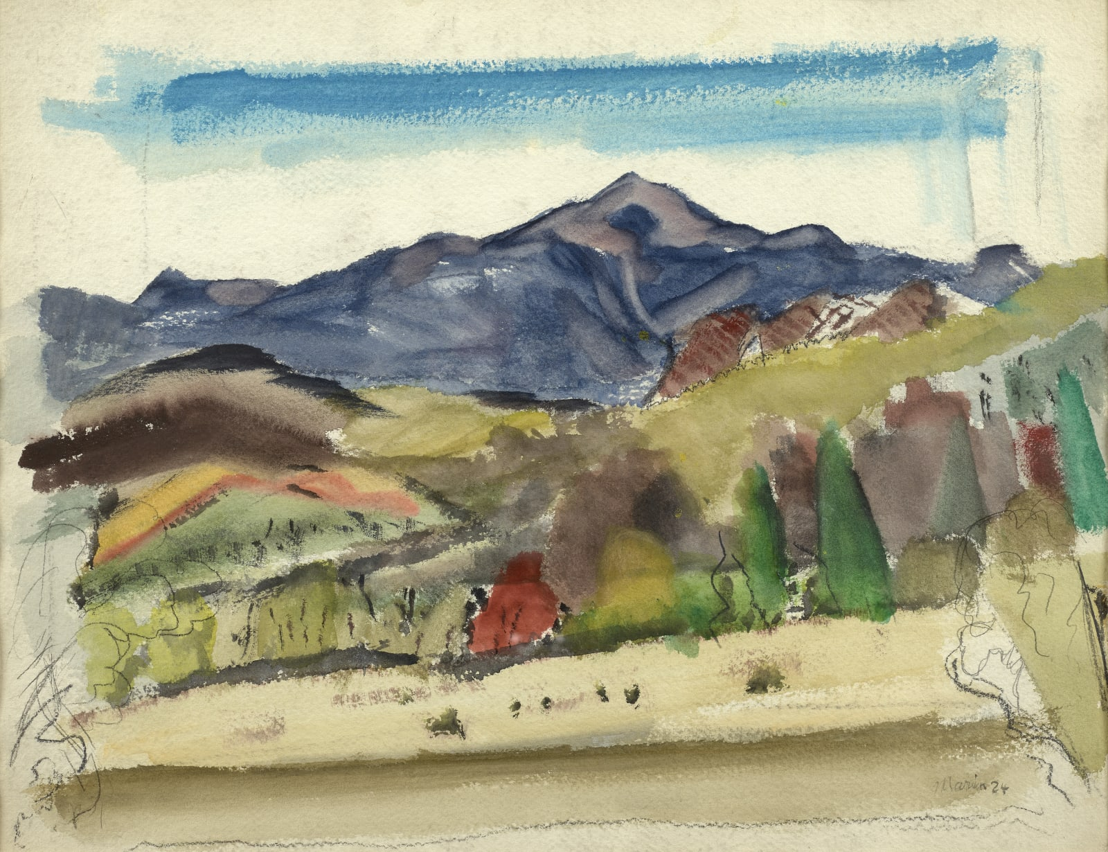 John Marin, Mount Washington, New Hampshire, 1924