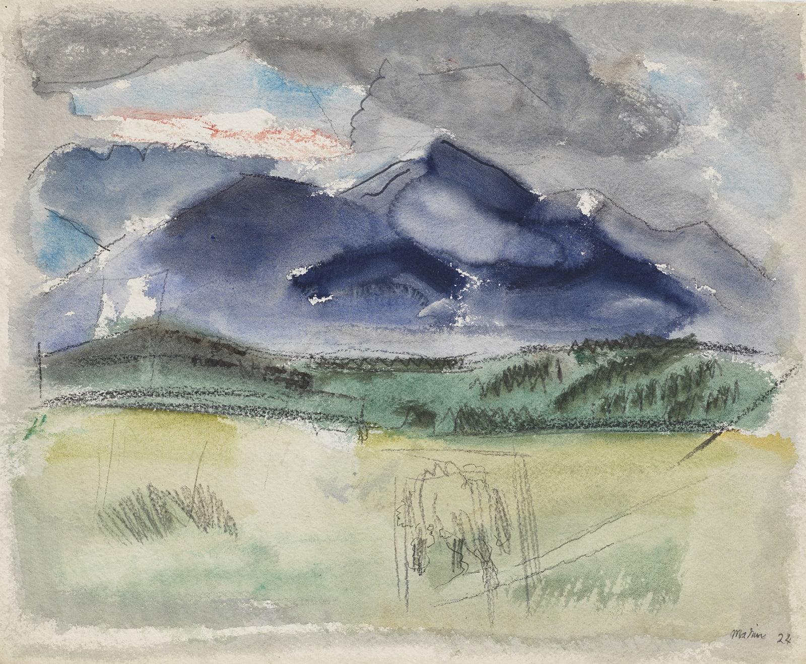 John Marin, Franconia Range, White Mountains, 1924