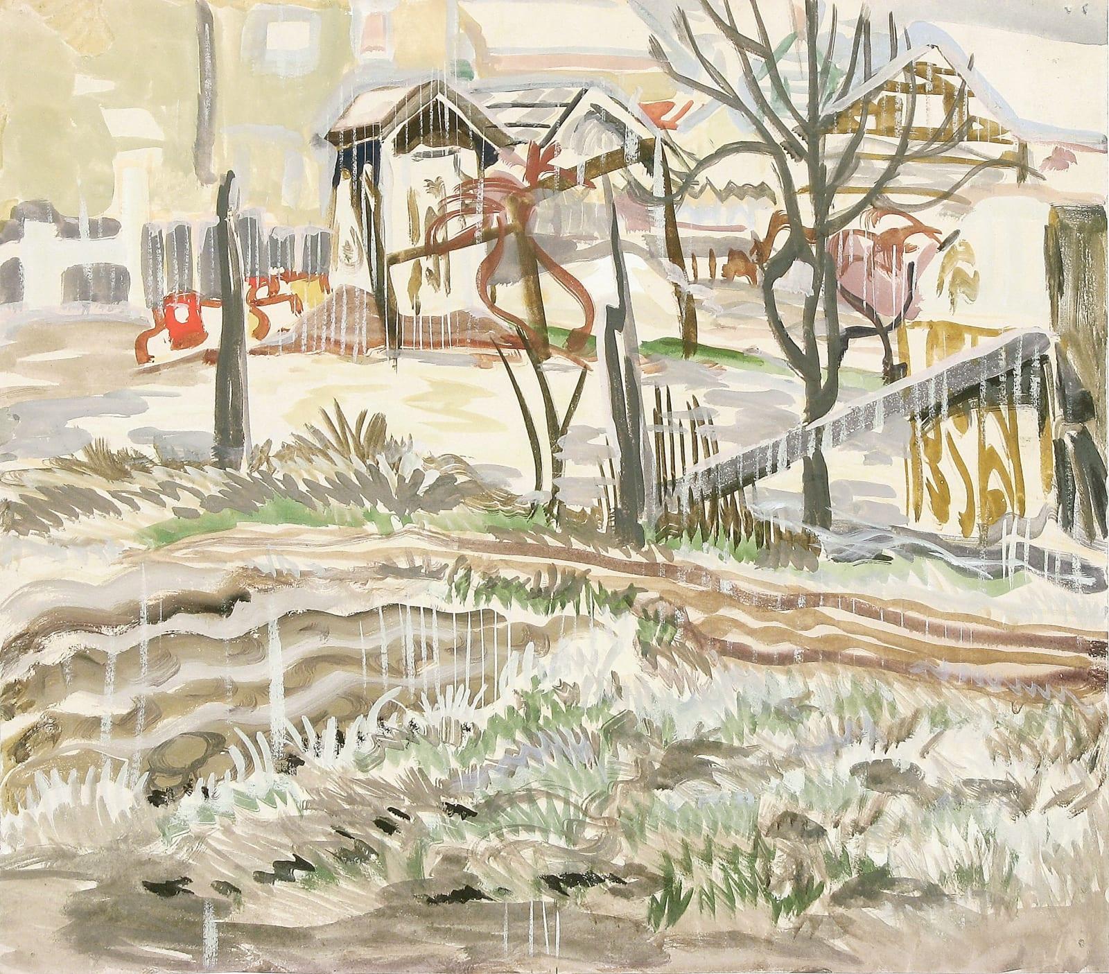 Charles Ephraim Burchfield, Untitled (March-21-1917), 1917