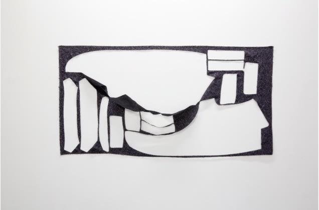 Marion Baruch Sans titre Coton 60 x 117 cm 23.62 x 46.06 in