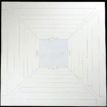 Claudio Parmiggiani Sans titre Crayon et tempera sur toile 156 x 156 cm 61 3/8 by 61 3/8 in.
