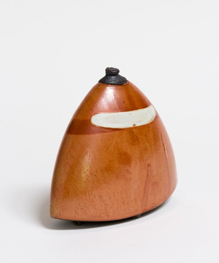 Wayne Ngan, Orange Jar with Lid, 2016