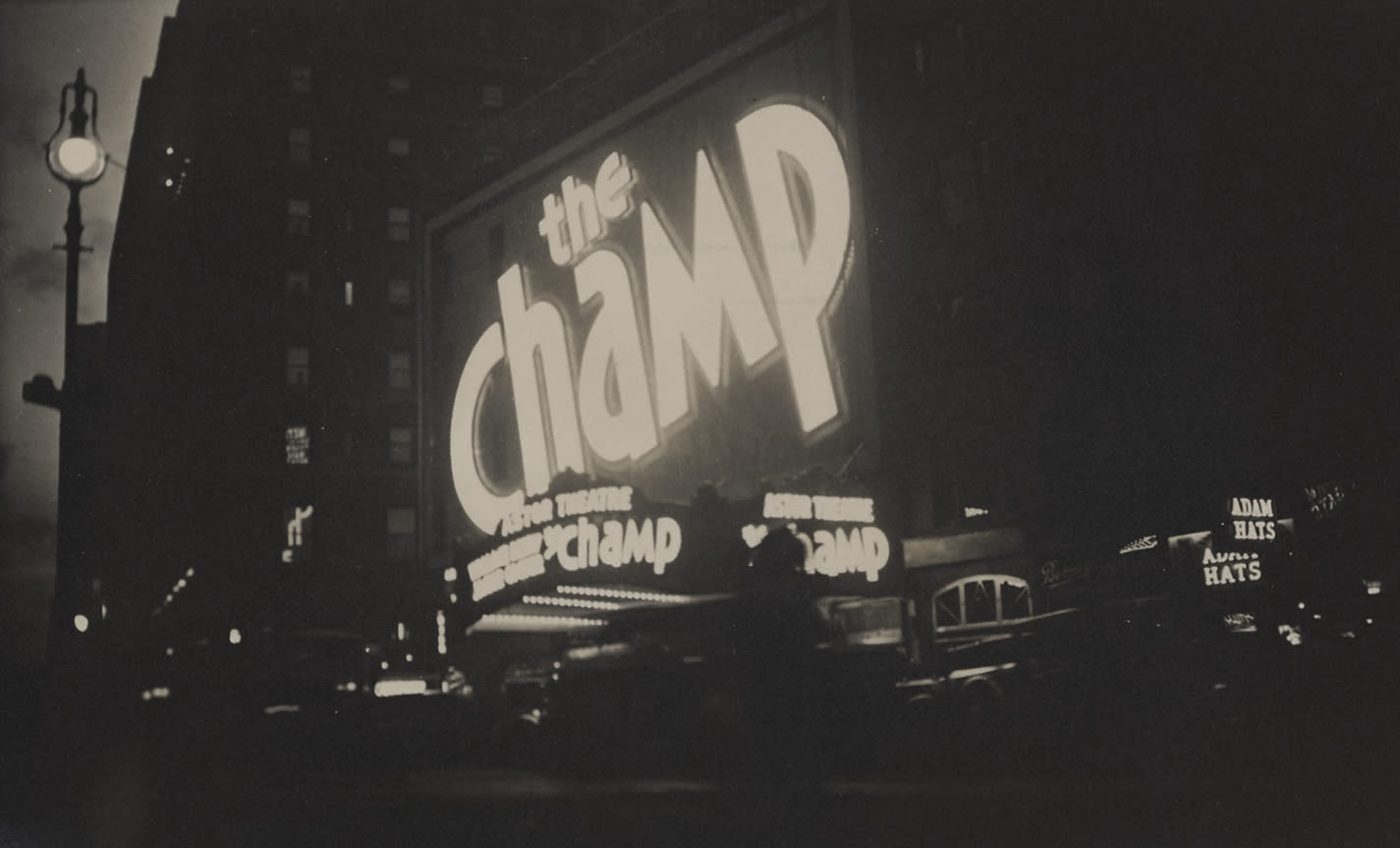Fred Zinnemann, The Champ, Astor Theatre, Times Square, New York, November 1931