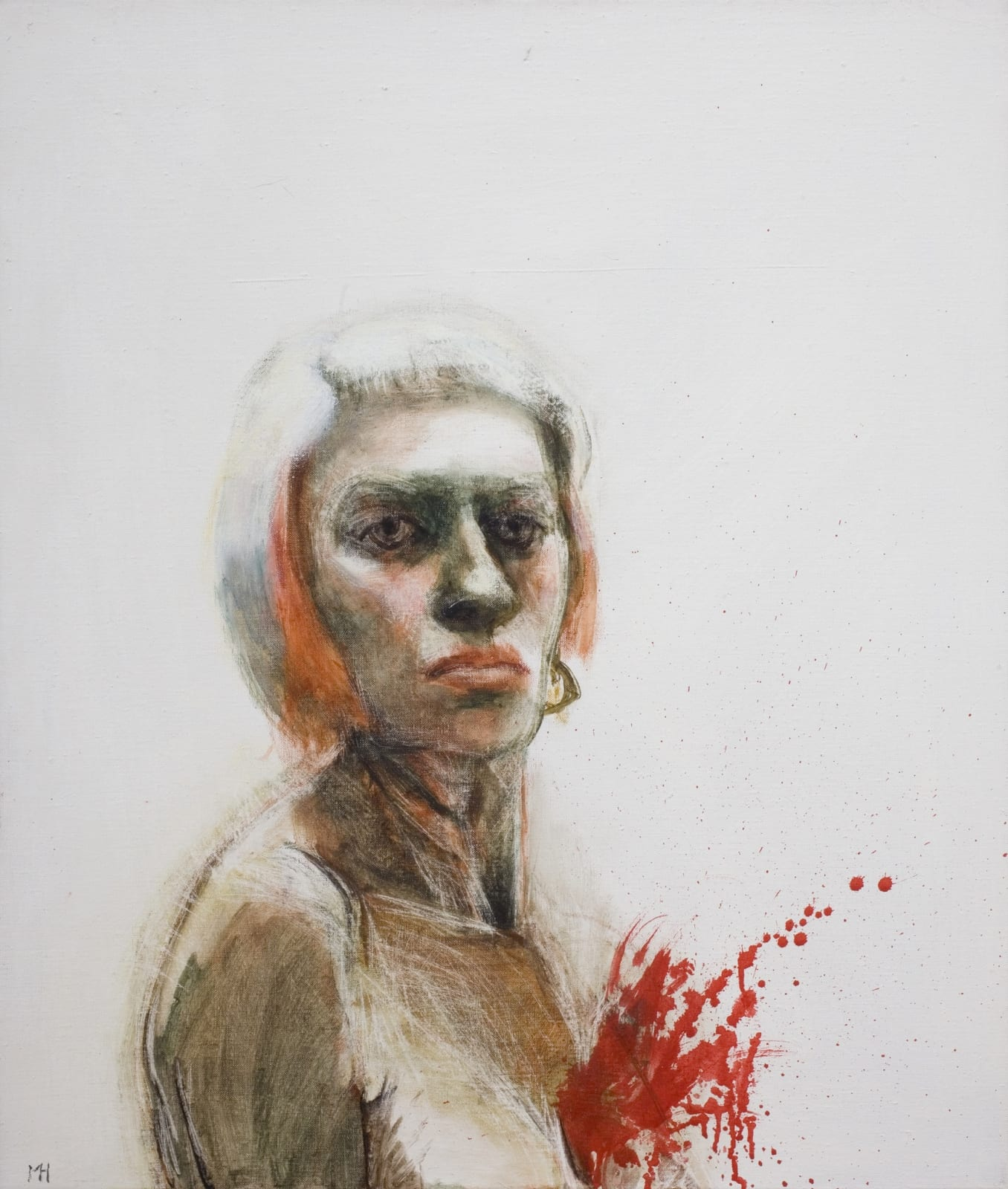 Marcelle Hanselaar, Self-Portrait with Exploding Chest, 2008