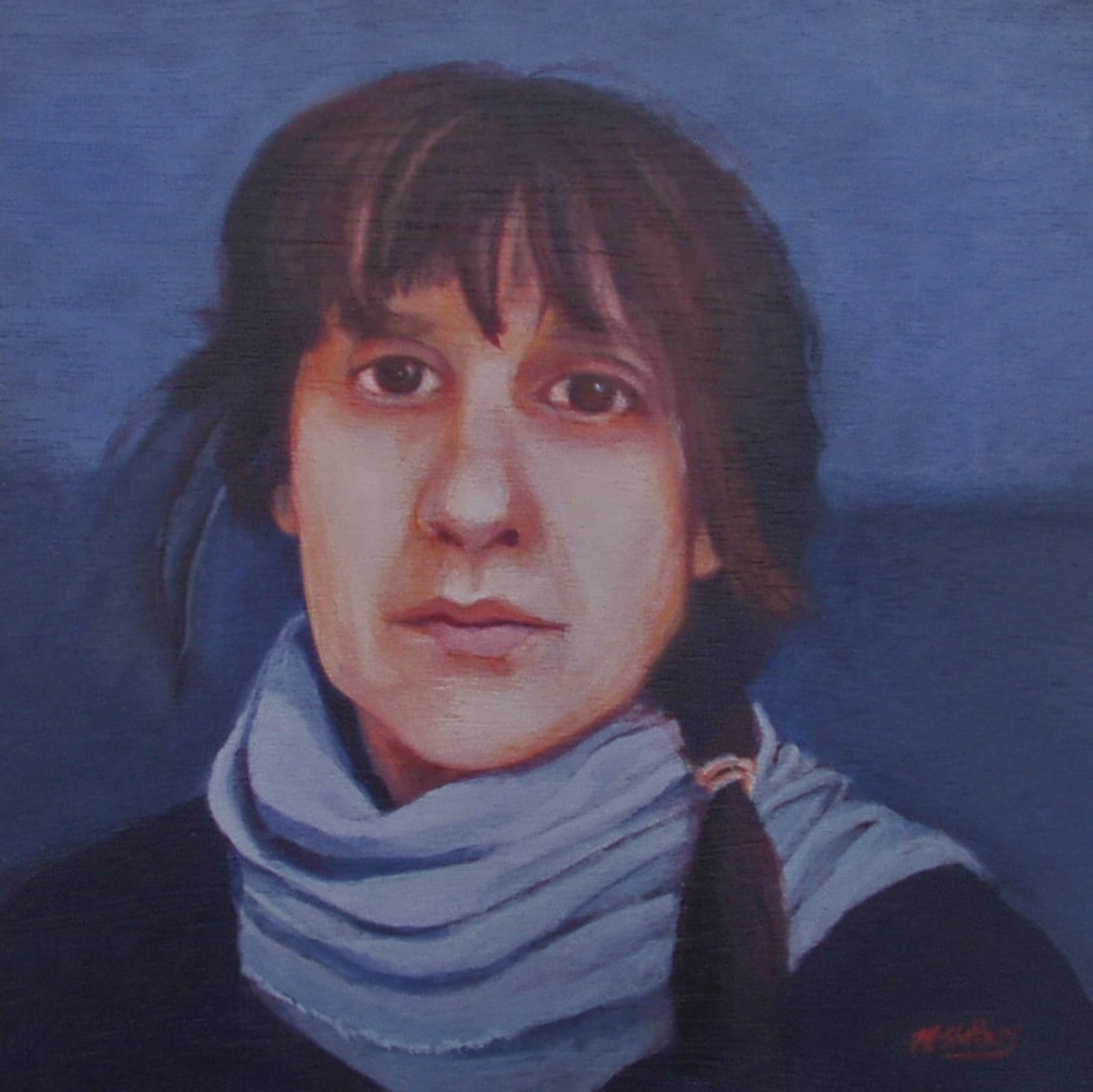 Nicola Slattery, Self Portrait in Blue