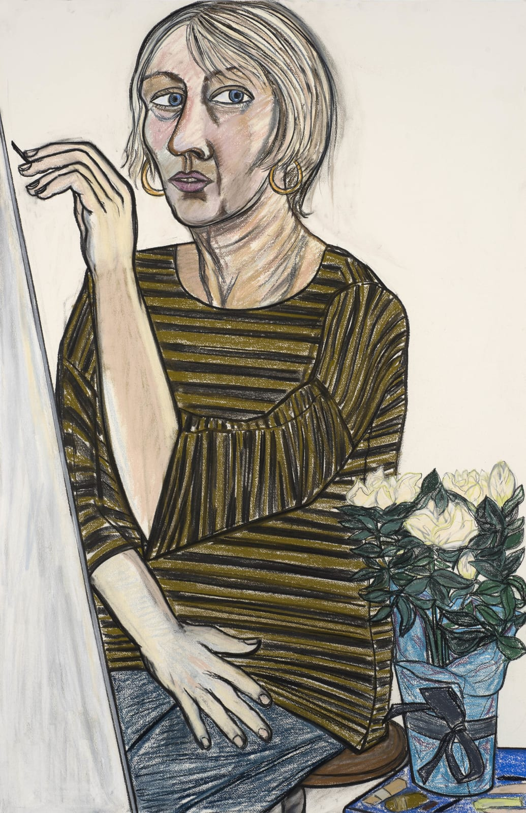 Eileen Cooper, Self Portrait with Kira's Rose