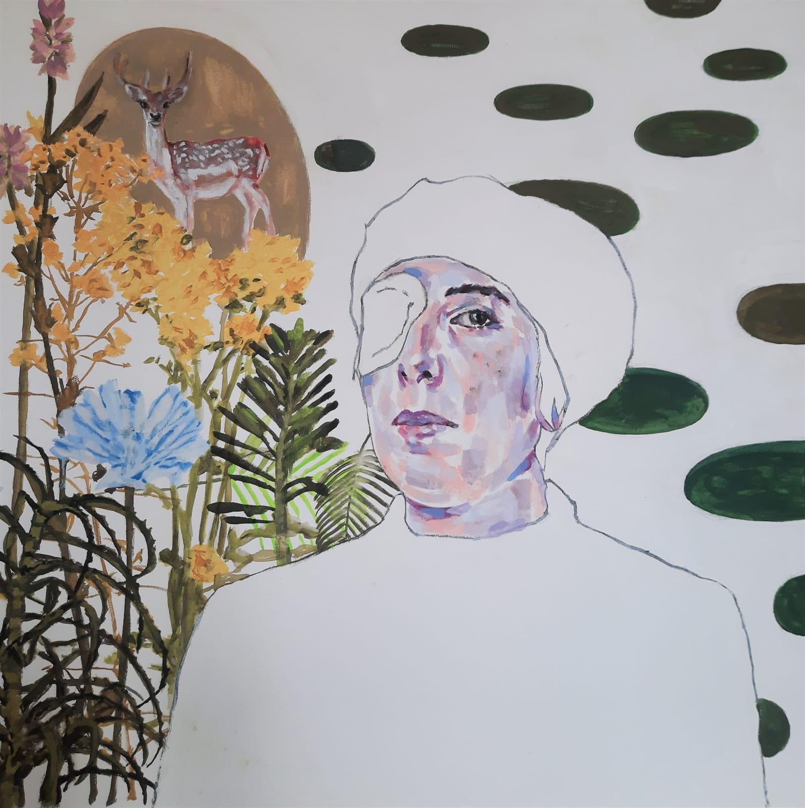 Barbara Bonfilio, Self Portrait with bandaged eye