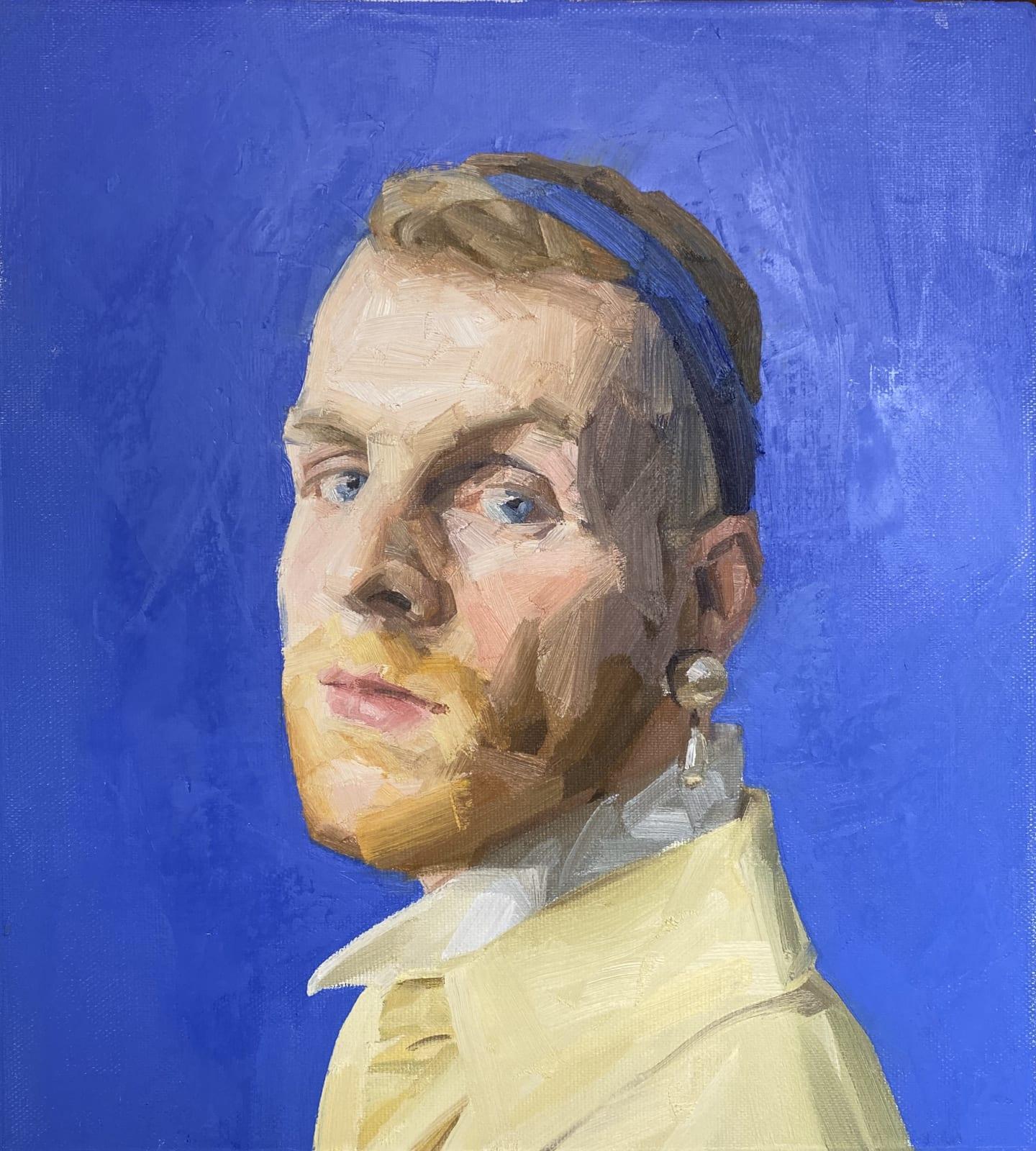 Robert Ware, Self Portrait with Pearl earring