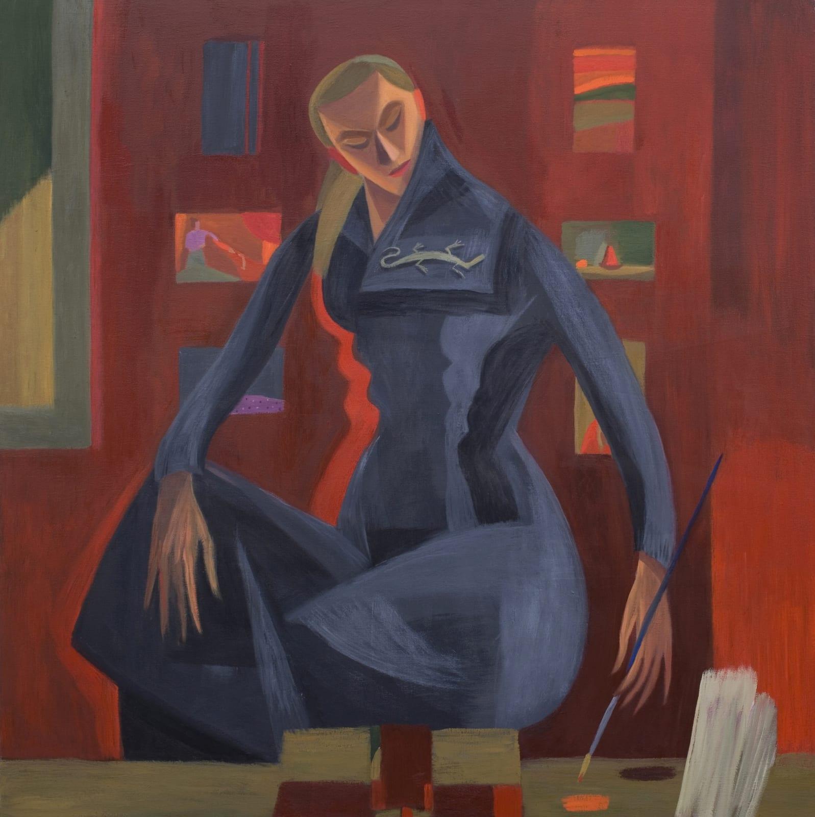 Mary Mabbutt, Red Studio Portrait, 2011