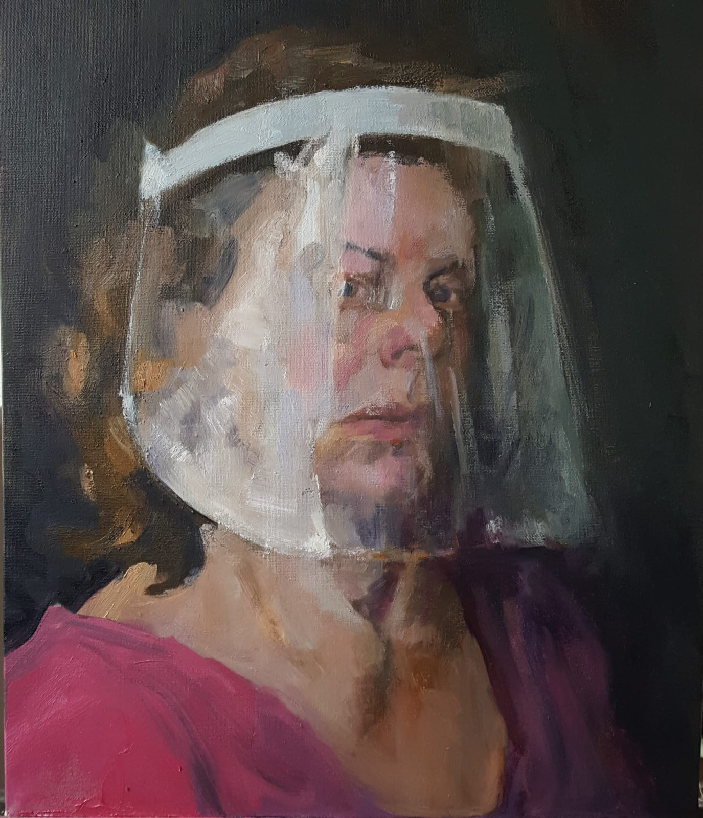 Jane Kelly, Never the Bride. Self Portait with Visor