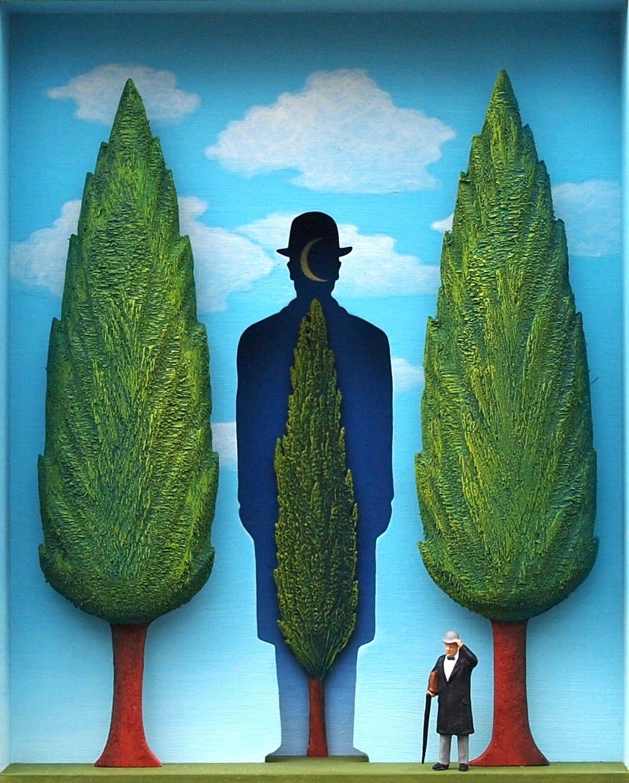 Volker Kuhn, The Garden of Magritte
