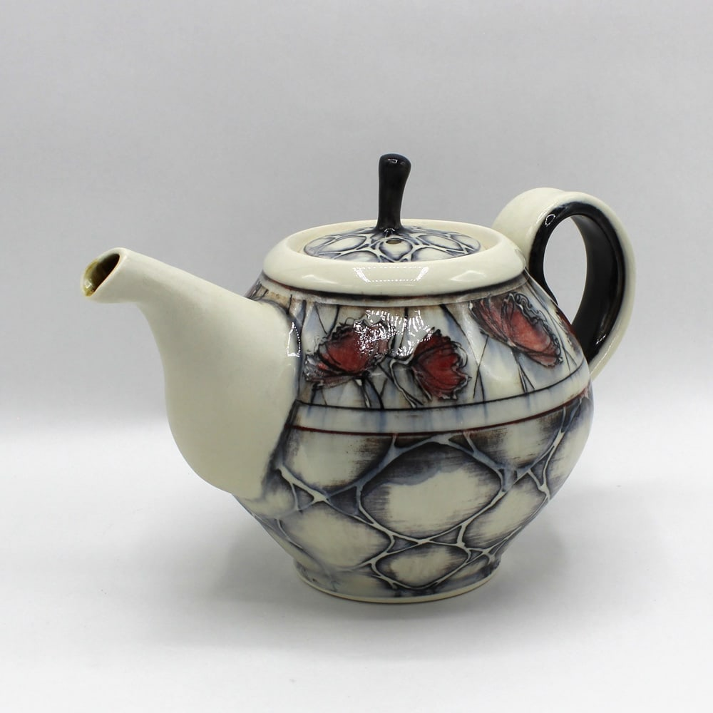 Dawn Candy, Poppy and Pattern Teapot, 2020