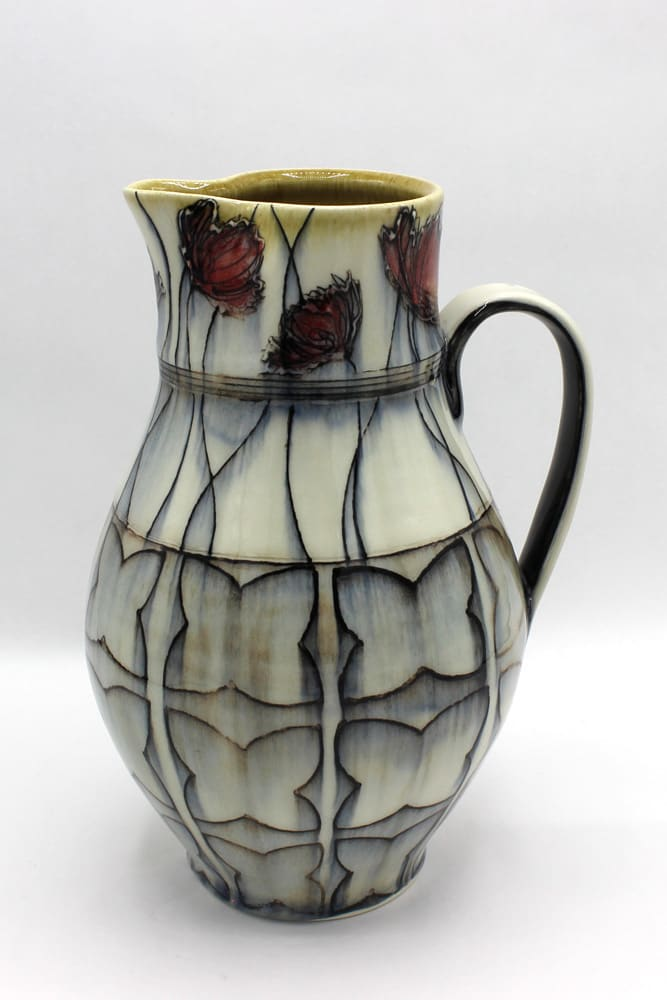 Dawn Candy, Poppy and Pattern Pitcher, 2020