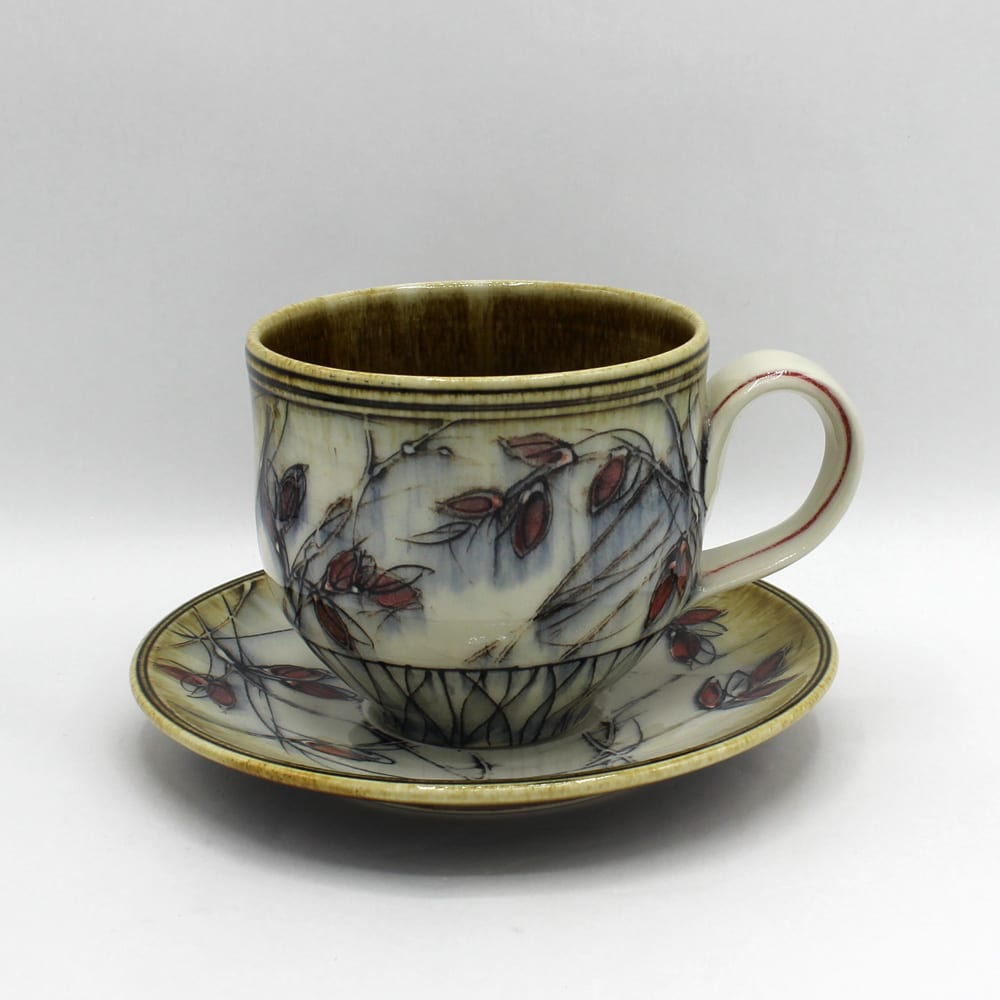 Dawn Candy, Red Ash Cup and Saucer Set, 2020