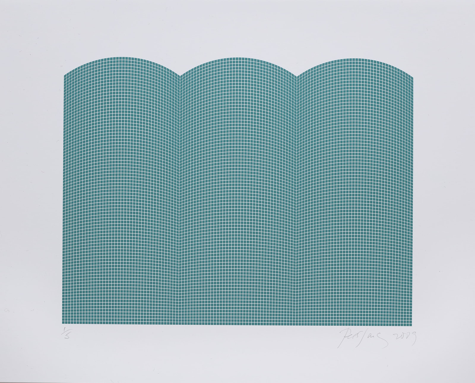 Tess Jaray, After Damascus (Green), 2010