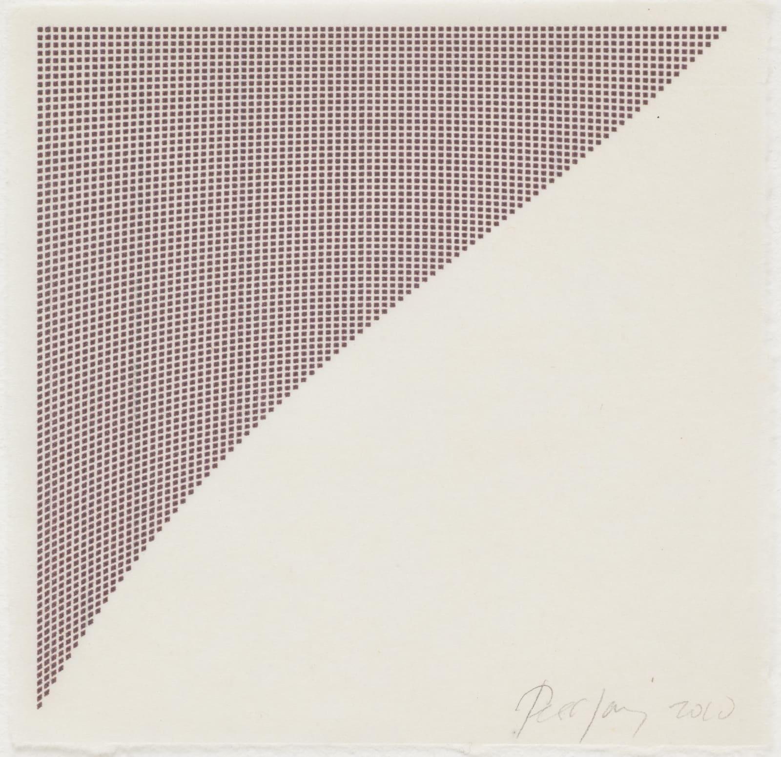 Tess Jaray, Untitled (Purple Corner), 2010