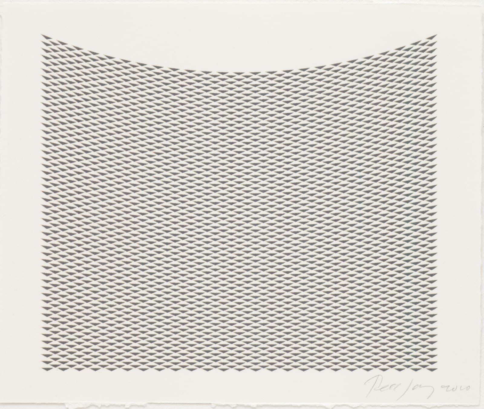 Tess Jaray, Untitled (Grey), 2010