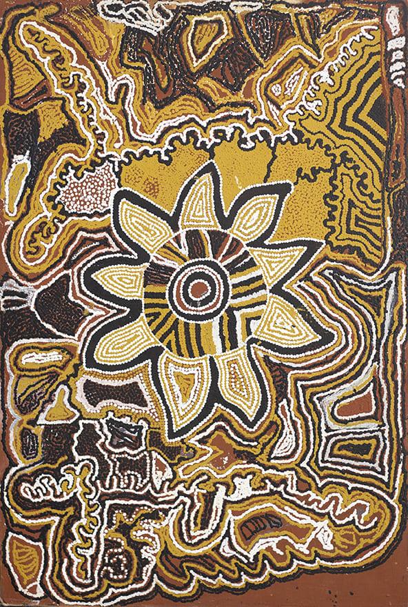 Nowee, Bush Tabacco Dreaming at Minyot, 1988