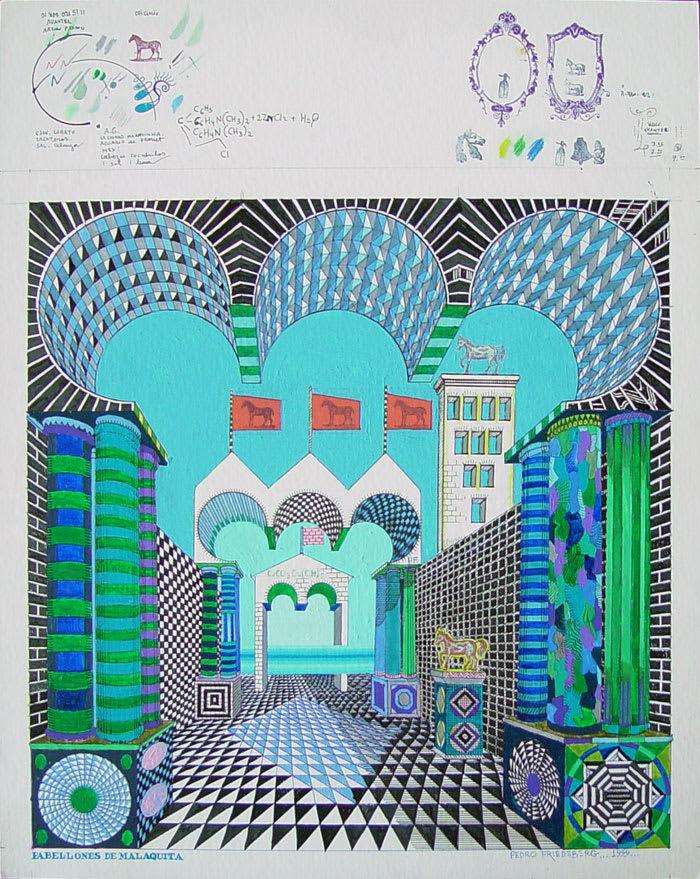 Pedro Friedeberg, Pabellones de Malaquita, 1999