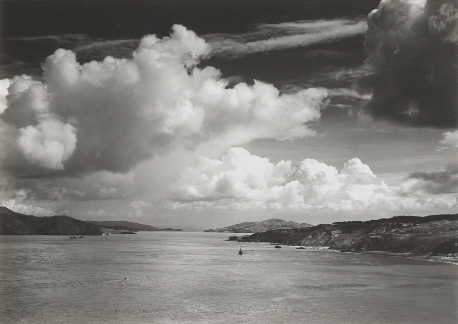Ansel Adams, Golden Gate Before the Bridge, 1932
