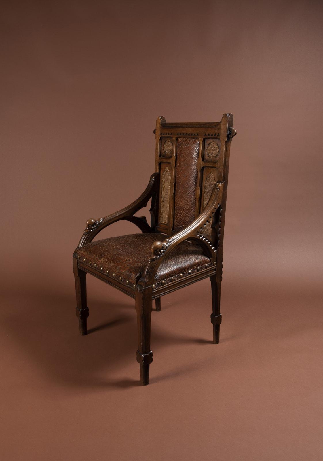 John Pollard Seddon, Gothic armchair, c.1860