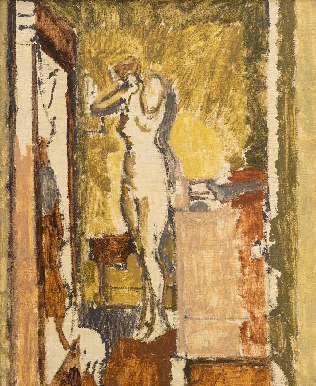 Walter Sickert, Standing nude in an interior, , c. 1921-22