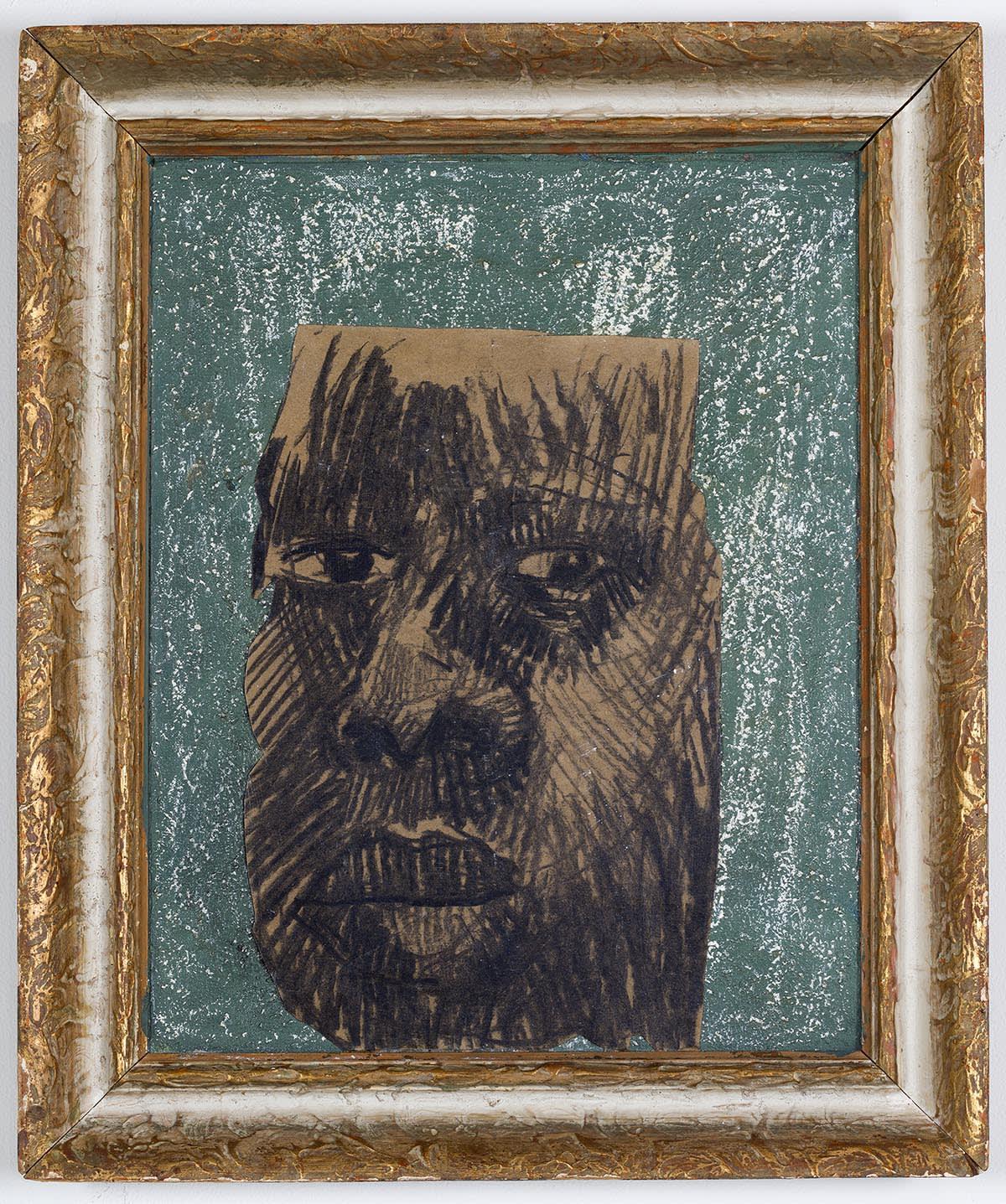 Ronald Muchatuta, Brown face II, 2020