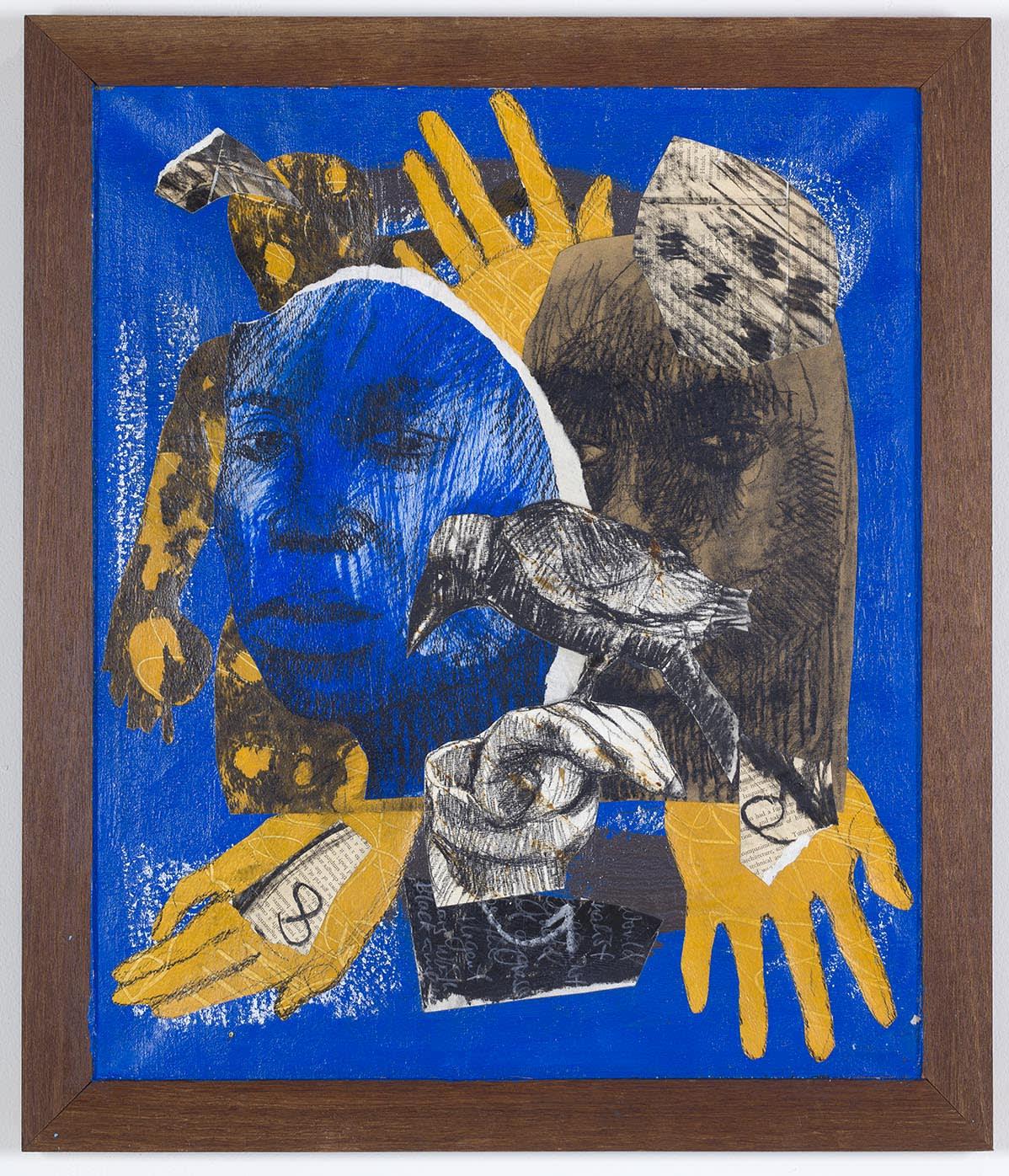 Ronald Muchatuta, Blue face, 2020