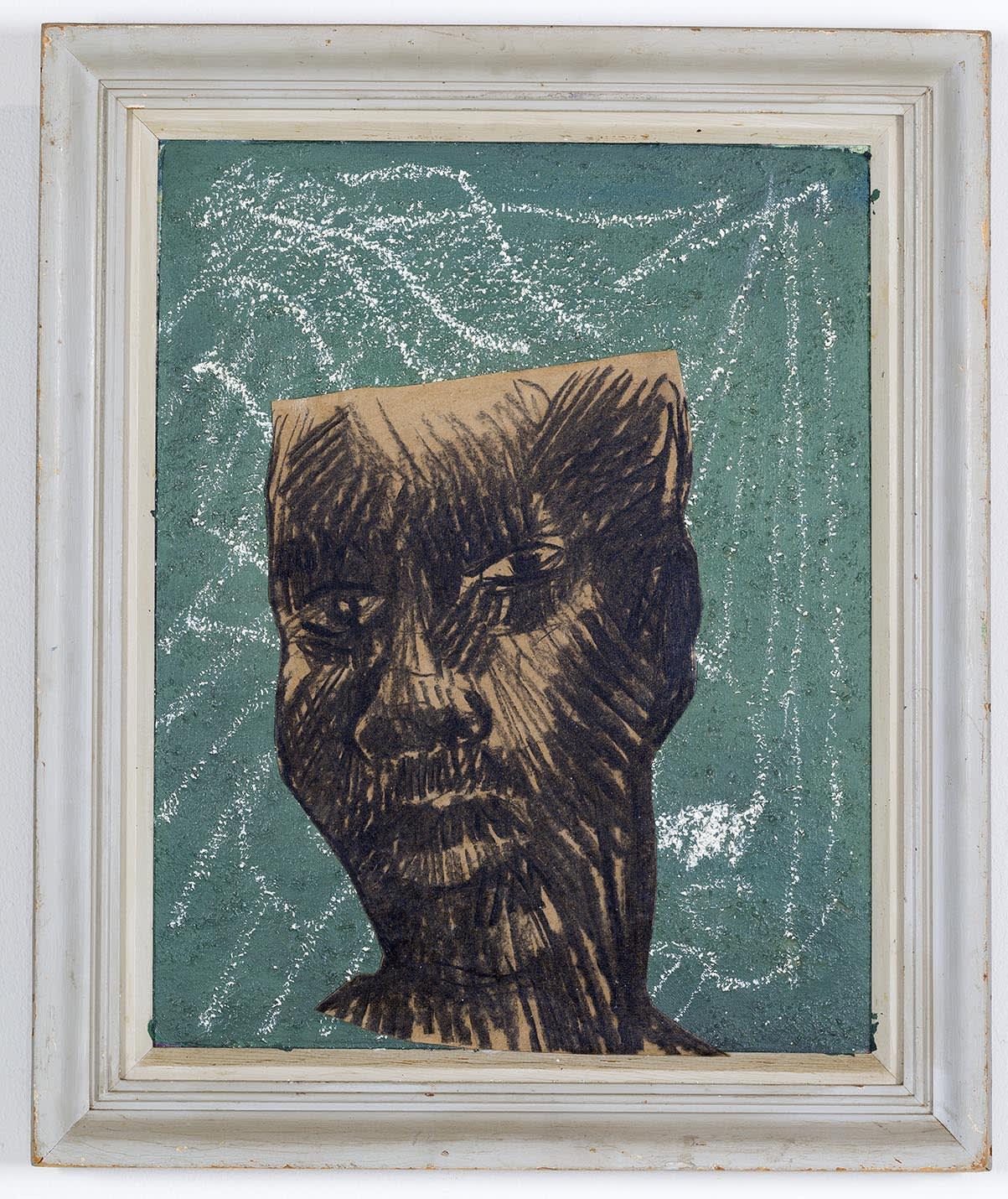 Ronald Muchatuta, Brown face I, 2020