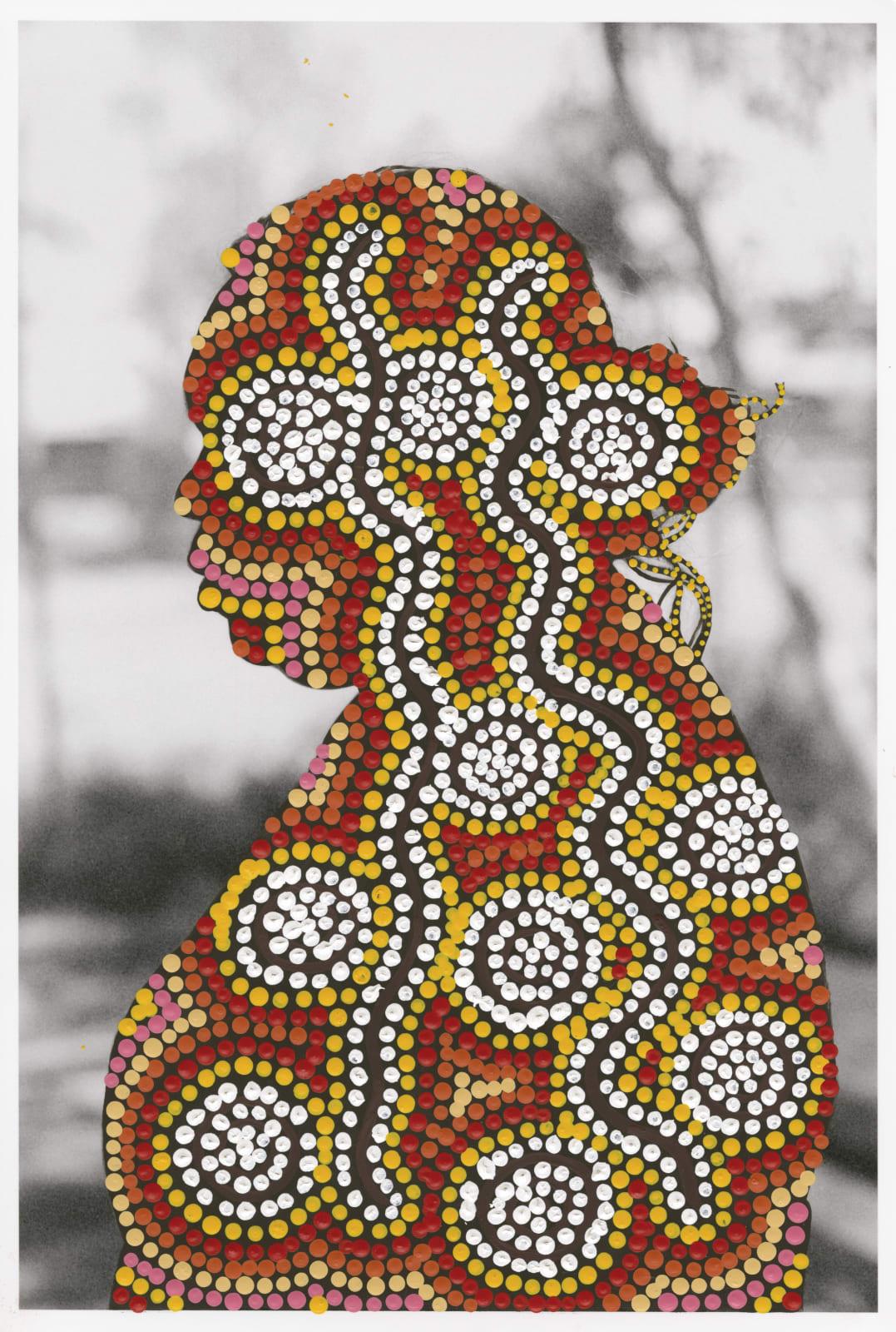 Patrick Waterhouse, Side Portrait Left / Restricted with Nathania Nangala Granites, 2014 - 2018