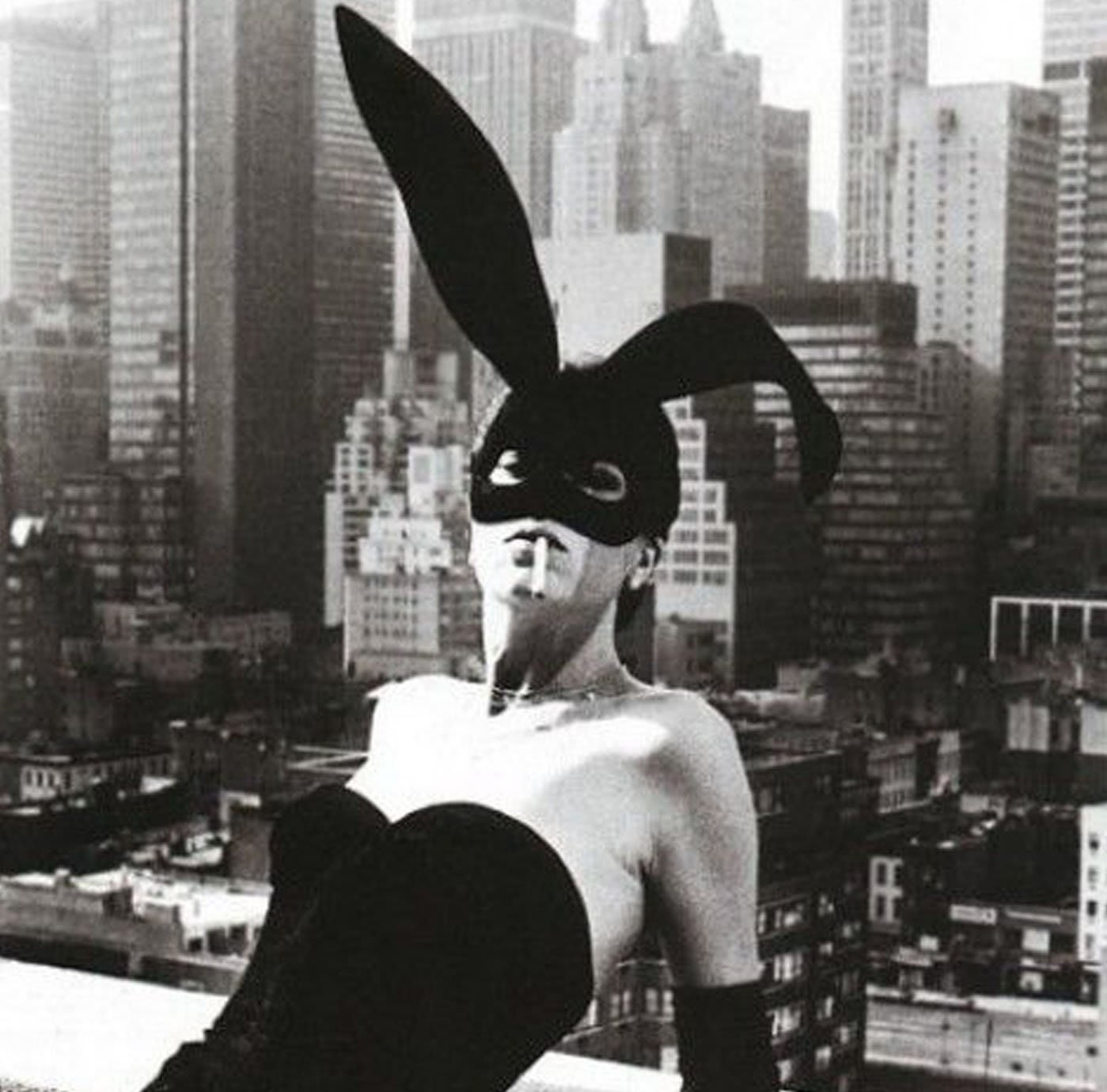 HELMUT NEWTON, Elsa Peretti in Halston Bunny Costume, New York, 1975